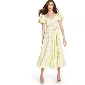 LoveShackFancy Ines Puff Sleeve Dress